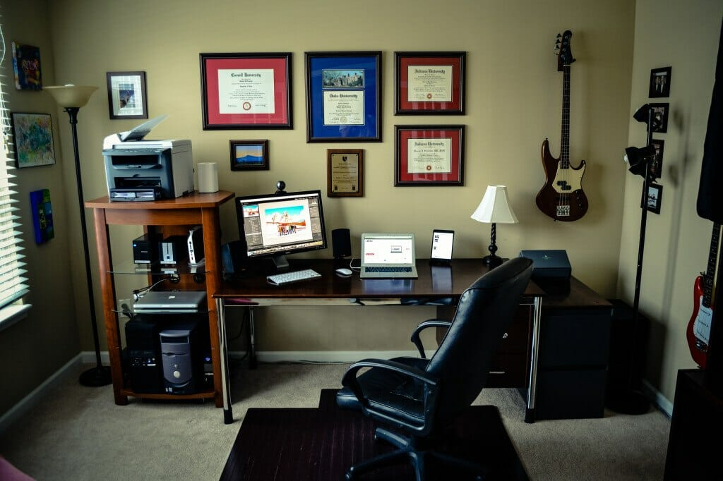 Home office completely re-wired.