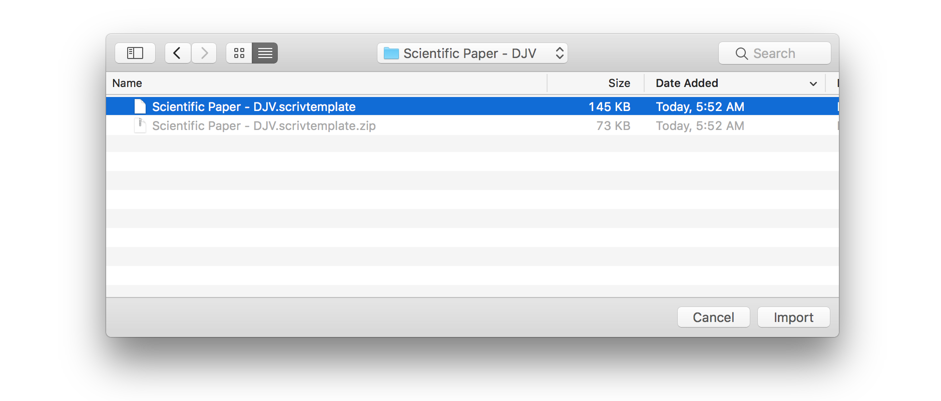 After Importing Your Scrivener Template File The Will Now Be Available On Project Templates Screen If You Are My For