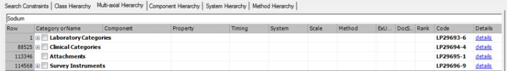 hierarchy search