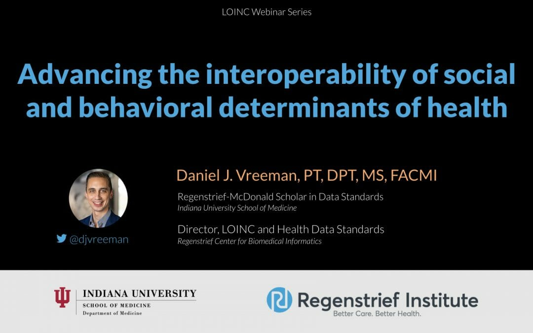 Advancing the interoperability of social and behavioral determinants of health