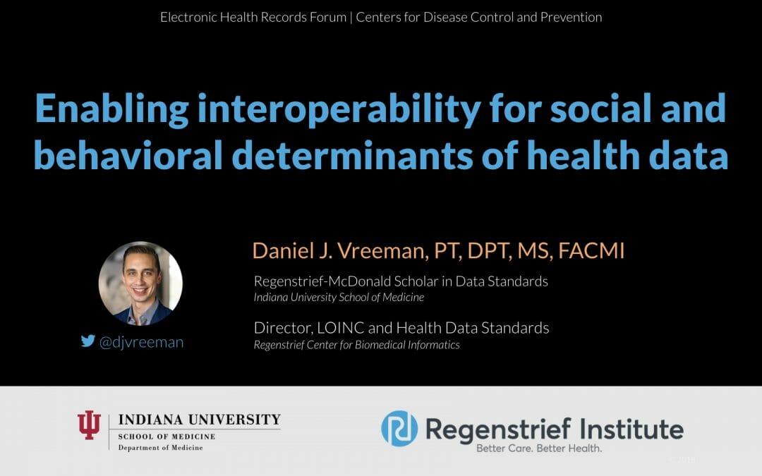 Enabling interoperability for social and behavioral determinants of health data
