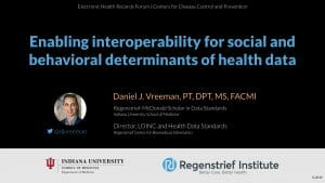 Enabling interoperability for social and behavioral determinants of health data