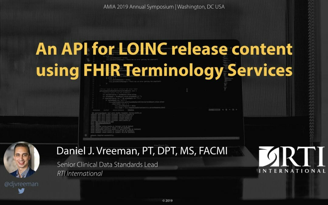 An API for LOINC release content using FHIR Terminology Services