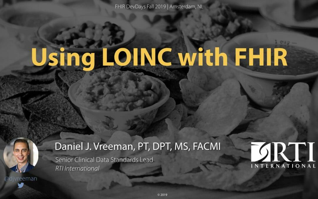 Using LOINC with FHIR – DevDays 2019 11